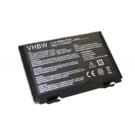 VHBW Accu Batterij ASUS K40 / K50 / F52 / F82 / F50 - 4400mAh