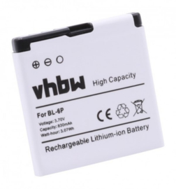 VHBW Accu Batterij Nokia 7900 Prism - 830mAh BL-6P