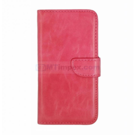 Bookstyle Case hoesje Apple iPhone 5C - Roze