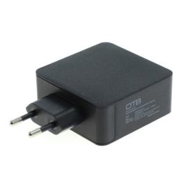 Thuislader USB DUAL (USB-C + USB-A) met USB-PD - 57W