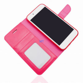 Roud Lock Book Case hoesje Apple iPhone 6 / 6S - Roze