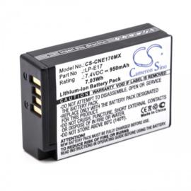 VHBW Accu Batterij Canon LP-E17 - 950mAh