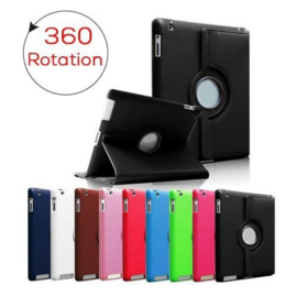 360 Rotation Case voor Apple iPad 2018 6e gen. A1893 A1954  - Rood