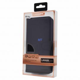 Echt Leder Telefoontasje Samsung Galaxy A80 SM-A805 - Zwart