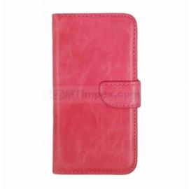 Bookstyle Telefoonhoesje Wiko Bloom 2 Case Cover - Roze