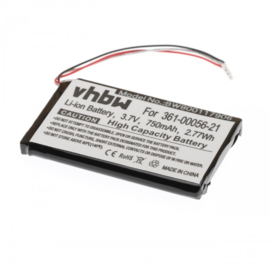 VHBW Accu Batterij Garmin 361-00056-21 - 750mAh DriveLux 50