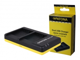 Patona USB Dual Quick Charger voor Accu Panasonic DMW-BCG10E