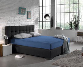 Jersey Stretch Hoeslaken 140 x 200 cm - Blauw 2 Persoons