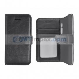 Stylish Book hoesje LG Bello 2 / LG Bello II - Zwart