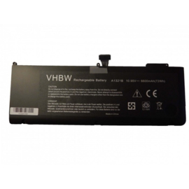 VHBW Accu Batterij Apple A1286 - 6600mAh 10,95V