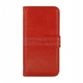 Bookstyle Case hoesje Apple iPhone 5C - Rood