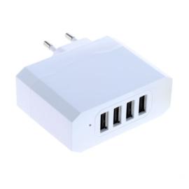 Multi Adapter met 4 USB poorten - 5V 4,8A - Auto-ID Functie