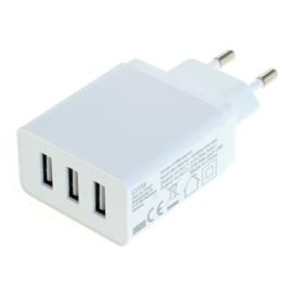 Multi Adapter met 3 USB poorten - 5V 3.1A - Auto-ID Functie