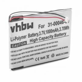 VHBW Accu Batterij Garmin 361-00046-00 - 1000mAh