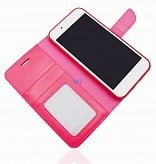 Telefoonhoesje Apple iPhone XS met insteekvakjes - Roze
