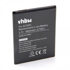 Accu Batterij voor Archos 50 Platinum e.a. - AC50PL - 1800mAh