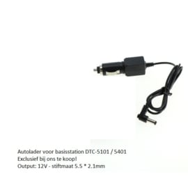 12-24V Losse Autolader voor basisstation DTC-5101 / Digibuddy 5401