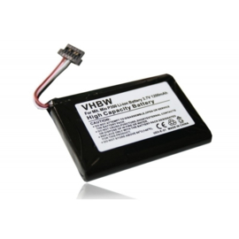 VHBW Accu Batterij Mio J00162K - 1200mAh 3.7V