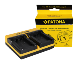 1902 Patona USB Dual Charger Leica VLUX 3 e.a.