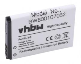 VHBW Accu Batterij ABBCO Simply Tracker - 900mAh BL-5B
