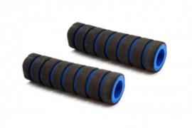2x Handvat Kinderfiets 110mm lang 17mm diameter - Blauw/Zwart