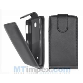 Flipcase hoesje LG Optimus F5 P875 - Zwart OP=OP