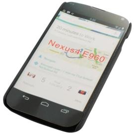 Backcover Google Nexus 4 E960 - Zwart