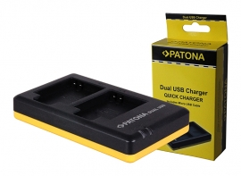 Patona USB Dual Quick Charger voor Accu Canon NB-6L NB-6LH