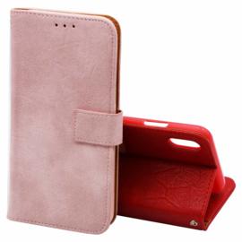 Telefoonhoesje Book voor Samsung Galaxy A30s SM-A307 - Roze/Goud
