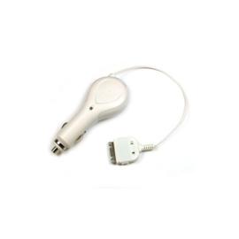 Autolader met koord voor Apple iPhone, iPod (30 Polig) - Wit