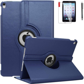 Tablethoes Apple iPad 7th Generatie 2019 10.2 - 360° Draaibaar  - D. Blauw