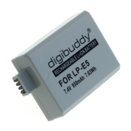 Digibuddy Accu Batterij Canon LP-E5 - 950mAh 7.4V 7.03Wh