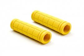 2x Handvat Kinderfiets 115mm lang 23mm diameter - Geel