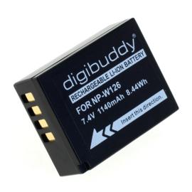 Digibuddy Accu Batterij Fuji NP-W126S NP-W126 - 1140mAh Premium