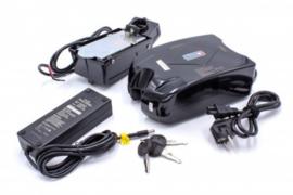 E-Bike Li-ion Accu Batterij 10,4Ah 24V - Incl. Oplader en Sleutels - Kikker