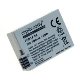 Digibuddy Accu Batterij Canon LP-E8 - 1020mAh