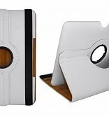 360 Rotation Case voor Apple iPad 2018  - Wit