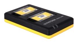 Patona USB Dual Quick Charger Accu Nikon EN-EL12 Nikon CoolPix