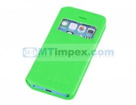Aavy Window Venster Book Case Samsung Galaxy S4 GT-i9500 - Licht Groen