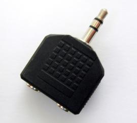 Audiosplitter 3,5mm naar 2x 3,5mm (OP=OP)