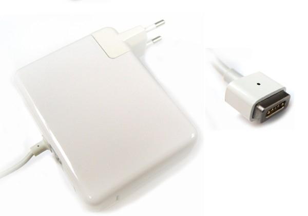 100 – 240V Adapter voor Apple 18,5V 4,6A (85W) Magnetic Connector WIT