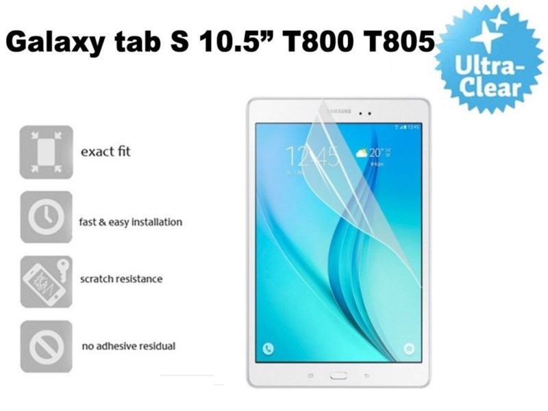 Screenprotector Samsung Galaxy Tab S 10.5 T800 T805 Transparant