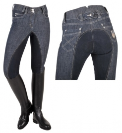 HKM - rijbroek miss blink jeans met elastisch kunstlederen zitvlak