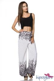 HIPSTYLERS trendy broek WHITE & BLACK, Maat XS, S, M, L en XL