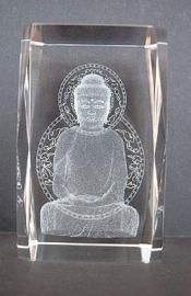 Boeddha meditatie laserblok