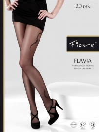 FIORE Fantasie-Panty FLAVIA 20 denier in de maten: S, M en L.