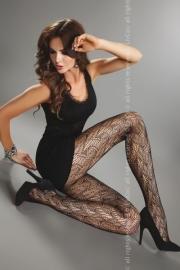 LIVCO CORSETTI Trendy zwarte, opengewerkte panty Giulia, maat S/L