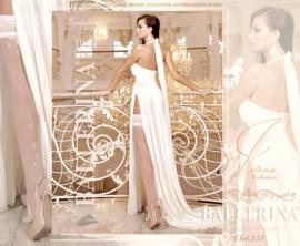 BALLERINA Sexy witte hold-up-kousen, Maat S/M en L/XL