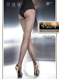 FIORE Fantasie-Panty ANGELINA 20 denier in de maten: S, M en L.