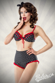 BELSIRA Zwart /Wit/ Rood retro bikini maat XS, S, M (L is UITVERKOCHT)en XL